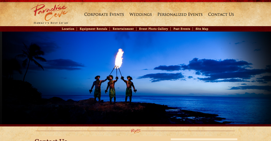 Paradise Cove, Hawaii, web design, online marketing, team vision