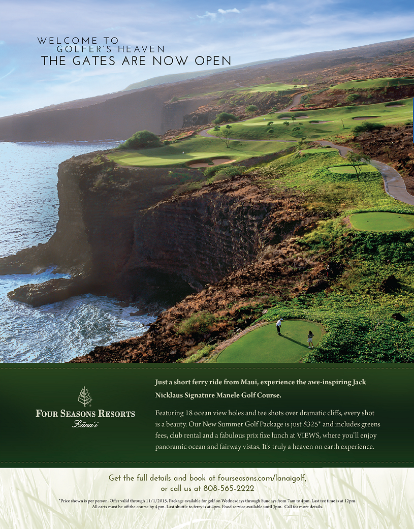 Four Seasons Lanai Golf Ad