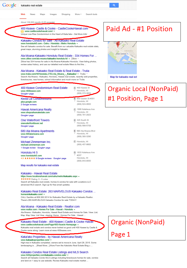 Team Vision Advertising Agency SEO Results