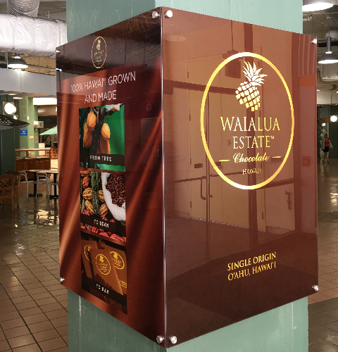 Waialua Estate Chocolate Pillar Wrap 2