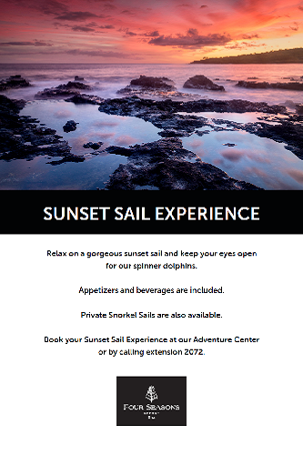 Four Seasons Sunset Sail Experience