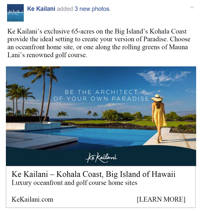 Ke Kailani- Social Media Advertising