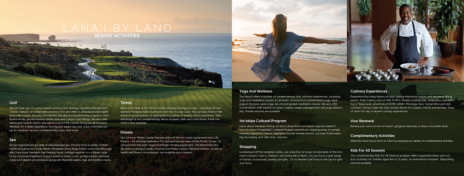 Four Seasons Lanai - Brochure Design - Spread 3