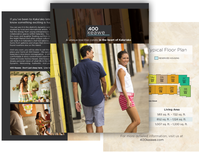 Hawaii Brochure Design, Hawaii, 400 Keawe, Castle & Cooke, Real Estate