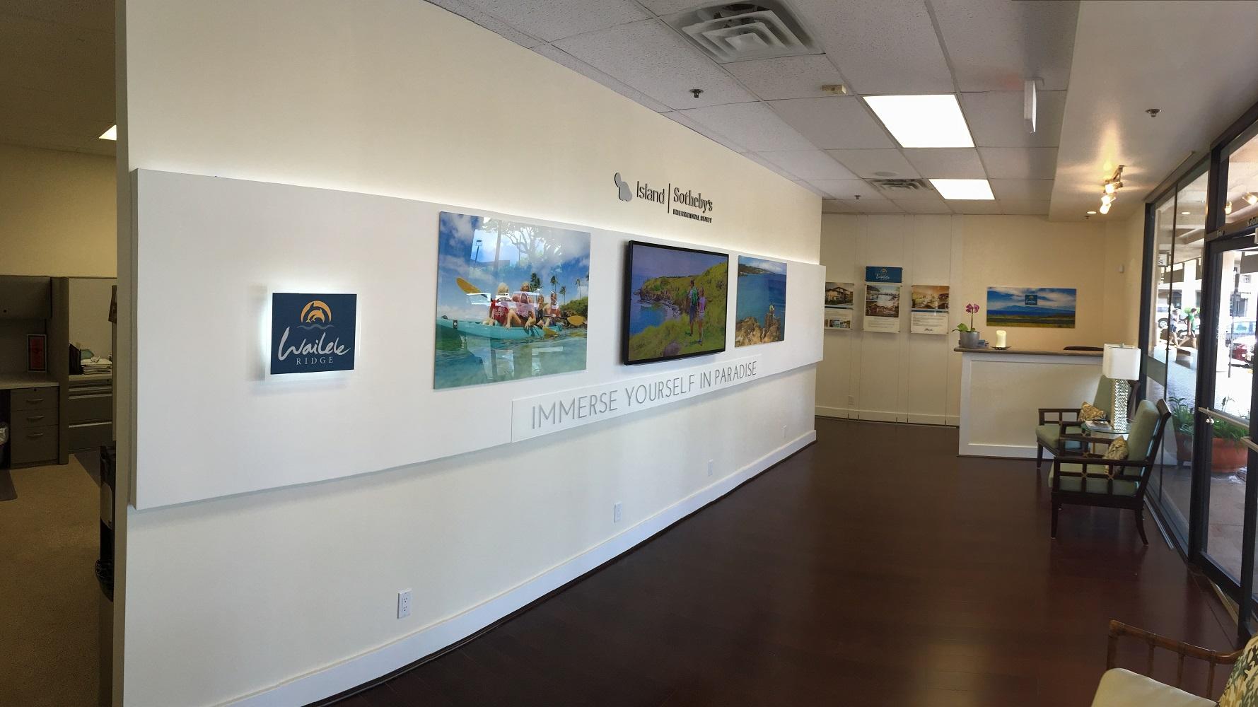 Island Sothebys International, Wailele Ridge, Sales Office design, Marketing, Advertising, graphic design