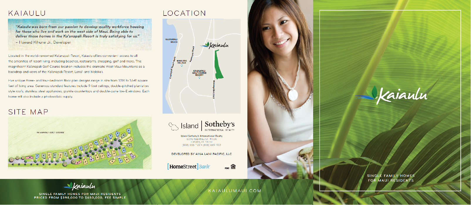 Kaiaulu Maui Brochure Cover Spread