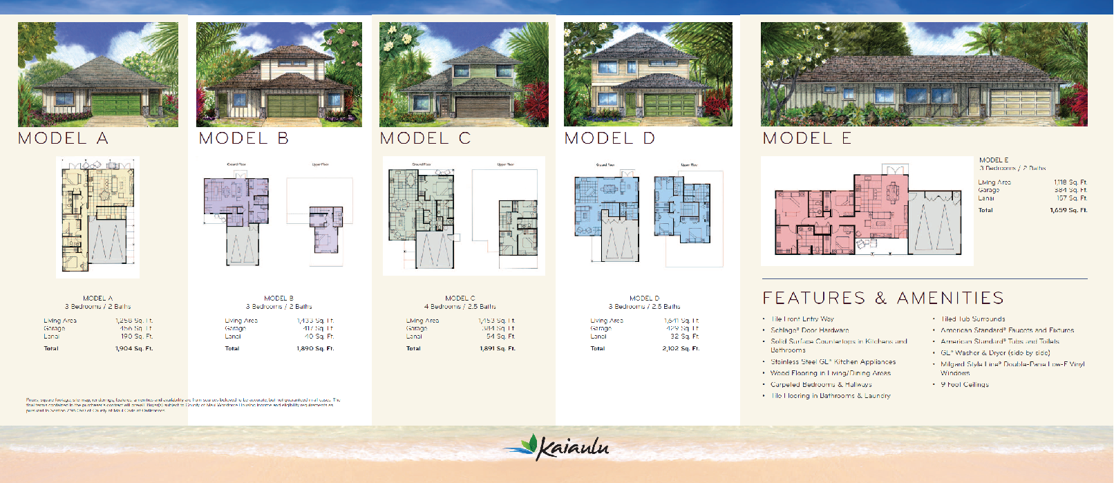 Kaiaulu Maui Brochure Floor Plans