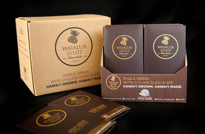 Waiaulua Estate Chocolate, Logo Design, Branding, Packaging Design, Team Vision Marketing Agency, Hawaii