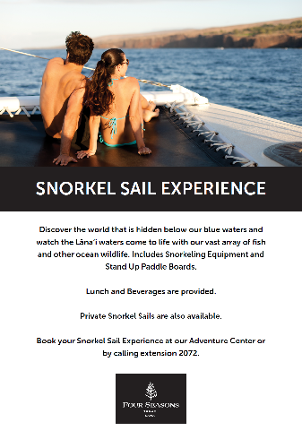 Four Seasons Lanai - Snorkel Sail