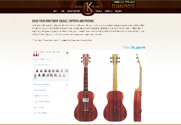 Kanilea Ukulele, Build Your Own Ukulele, Web design, online marketing, social media marketing, Team Vision, Honolulu