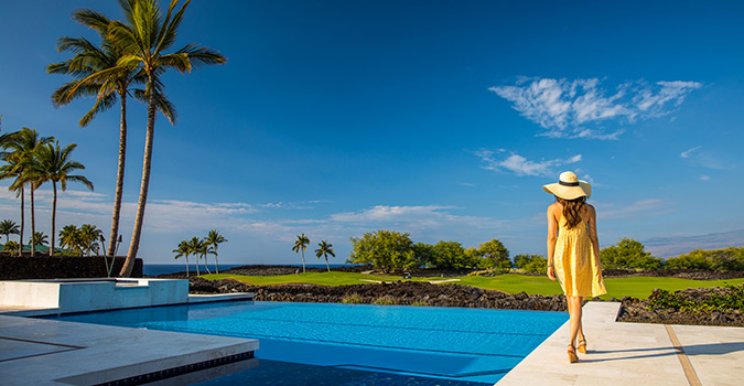 Ke Kailani, Big Island, Photography, Photoshoot, pool, girl, Luxury Real Estate