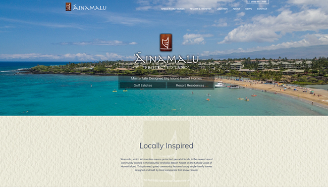 Ainamalu, Waikolo Beach Resort, Big Island, Real Estate, Kohala Coast, Homes, Marketing, Advertising