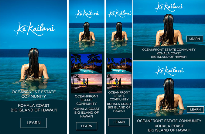 Ke Kailani Big Island Real Estate - Digital Banner Ad Design