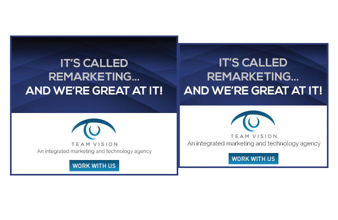 Team Vision Marketing, Remarketing, Google Banner Ads, Google Ads, Banner Ads, Digital Marketing