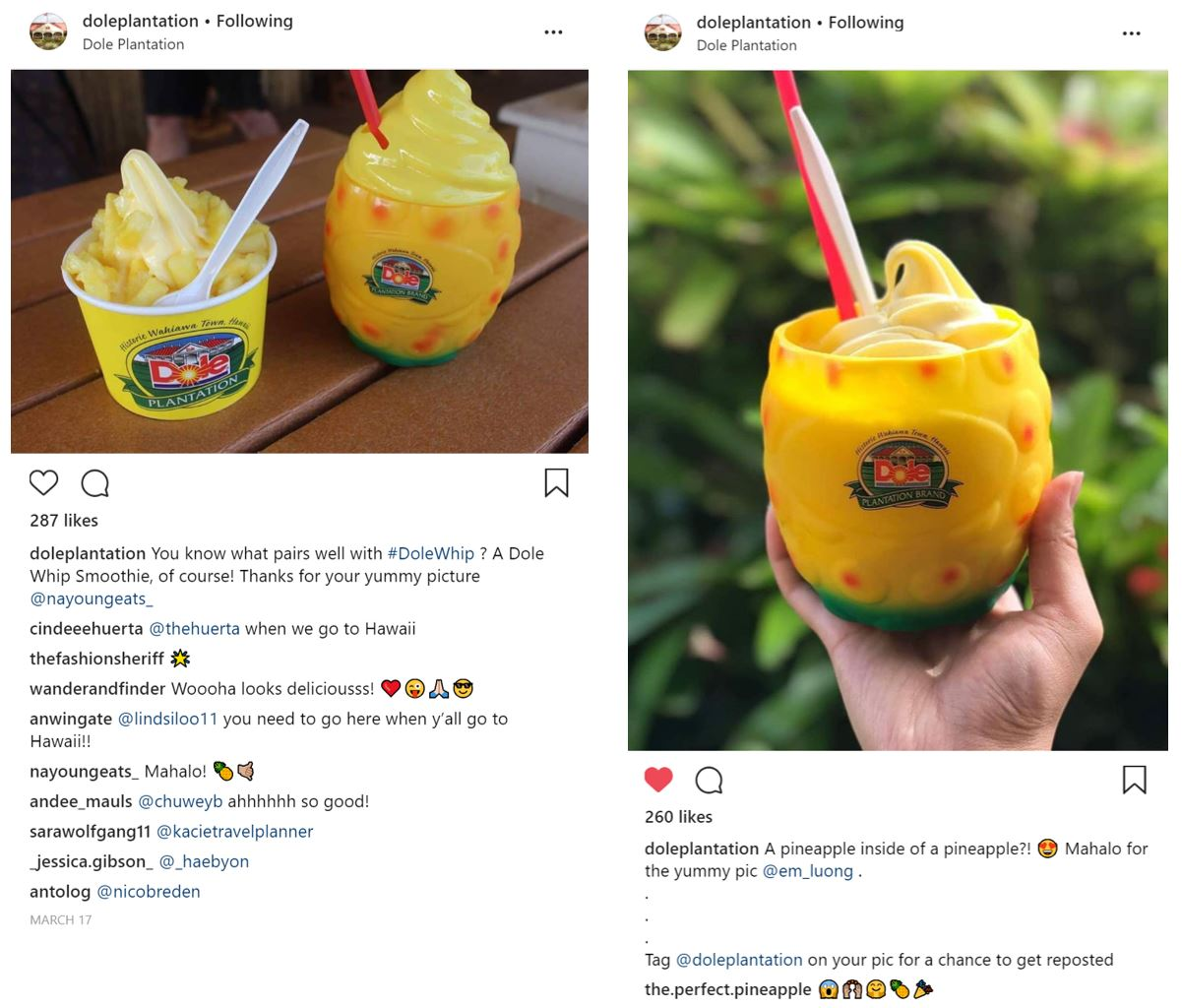 Dole Plantation Repost Examples