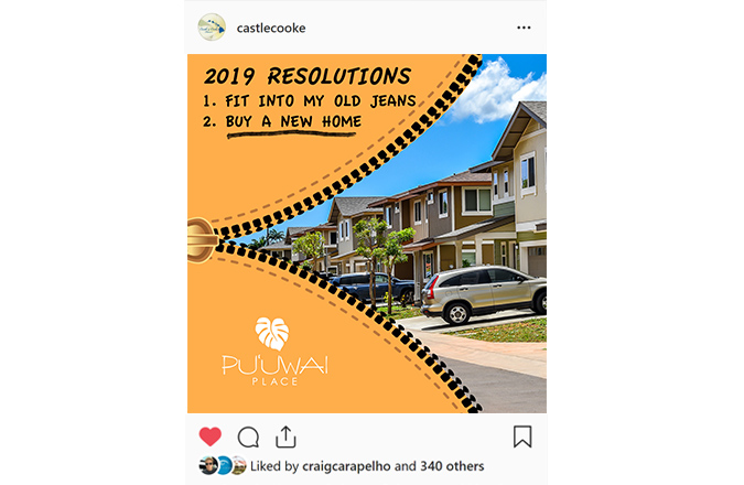 Instagram Ads, Social Media Marketing, Team Vision Marketing Agency, Puuwai Place, Hawaii Real Estate