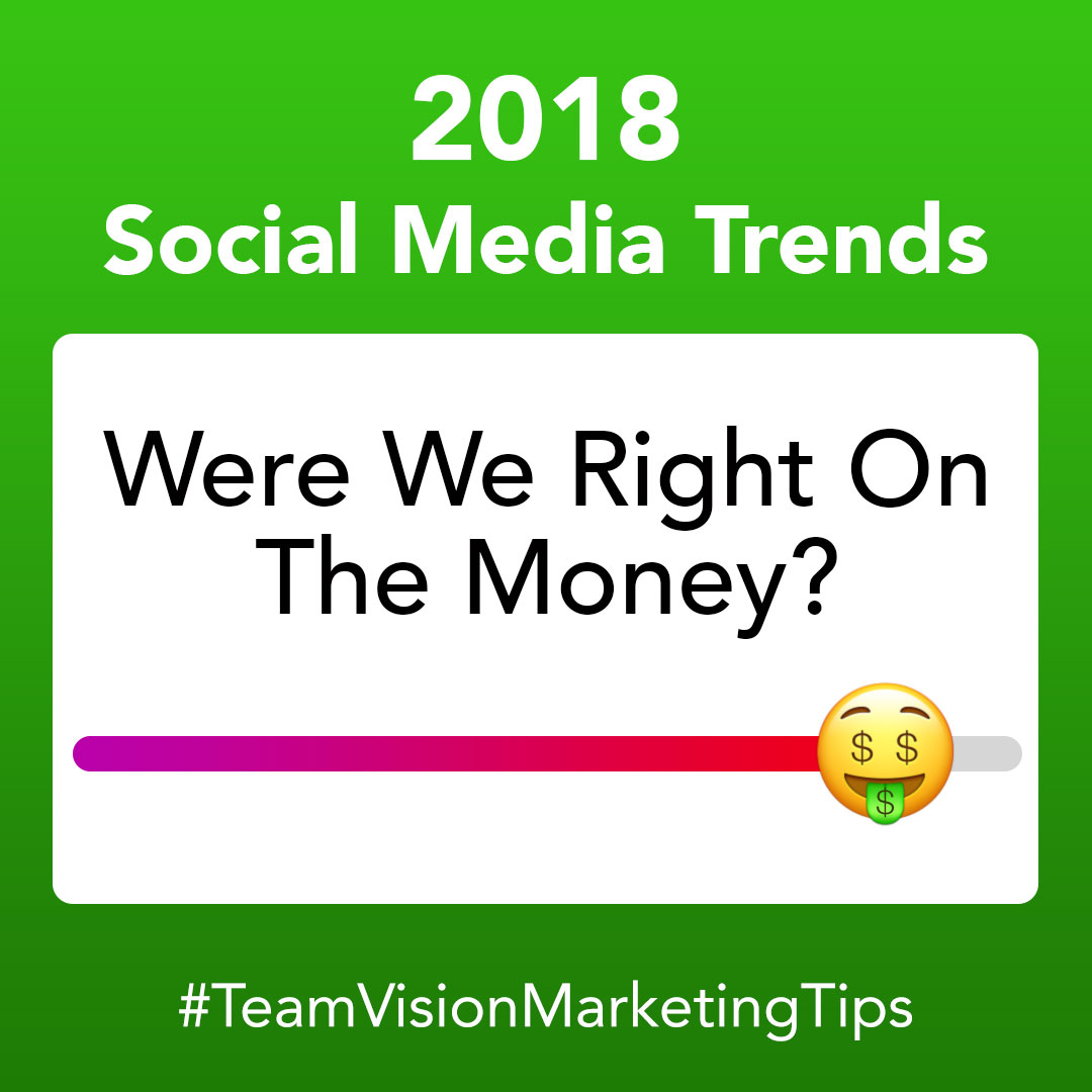 2018 Social Media Trends: Were We Right On The Money?
