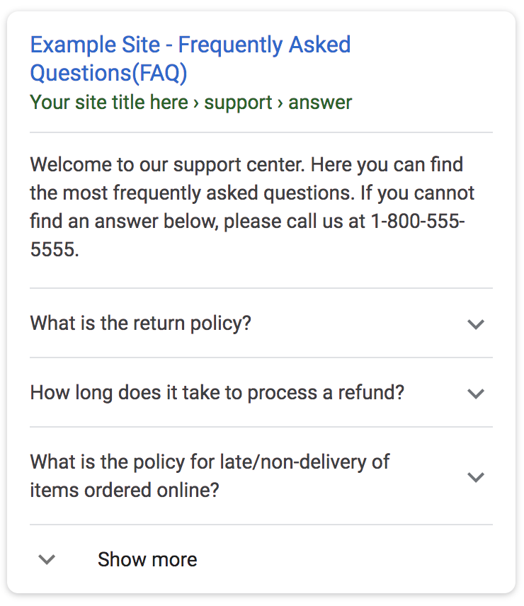 Hawaii SEO - Google FAQ Rich Result Feature