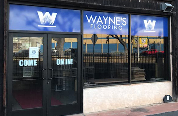 Wayne's Flooring Sand Island Sign designed by Team Vision Marketing